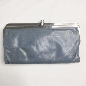 HOBO International Gray Lauren Double Frame Wallet